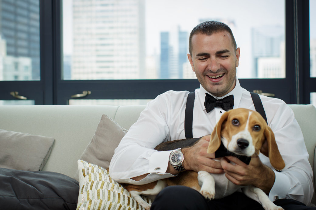 Beagle Puppy as a Groomsman | Chicago Wedding | Cafe Brauer Wedding | Bubbly Moments