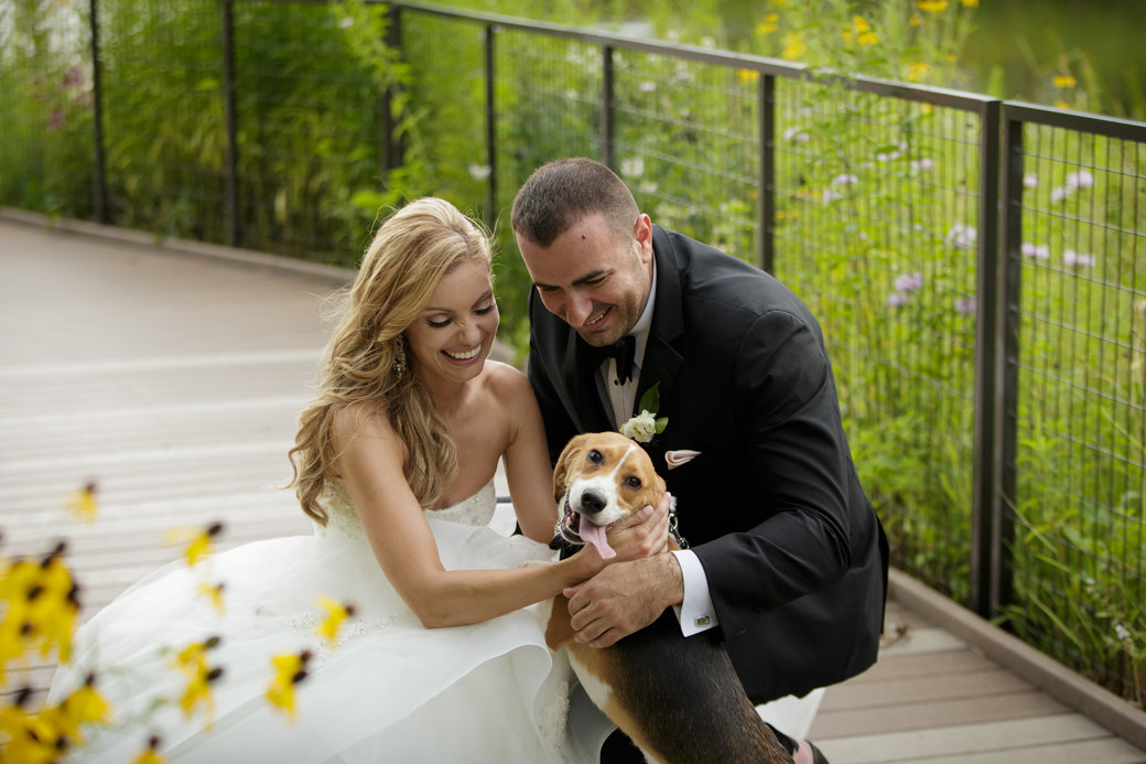 Beagle Groomsman | Wedding Photos | Monique Lhuillier Bridal Gown | Cafe Brauer | Chicago Wedding | Bubbly Moments