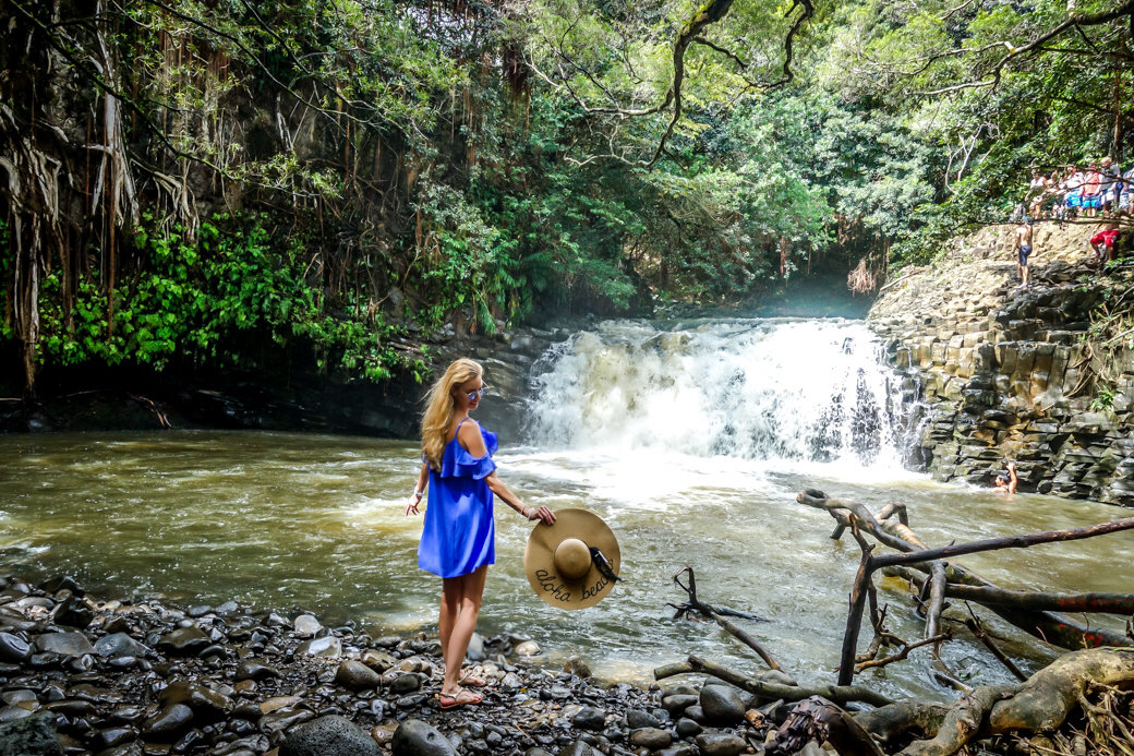 Twin Falls | Driving the Road to Hana | Maui | Hawaii | Bubbly Moments